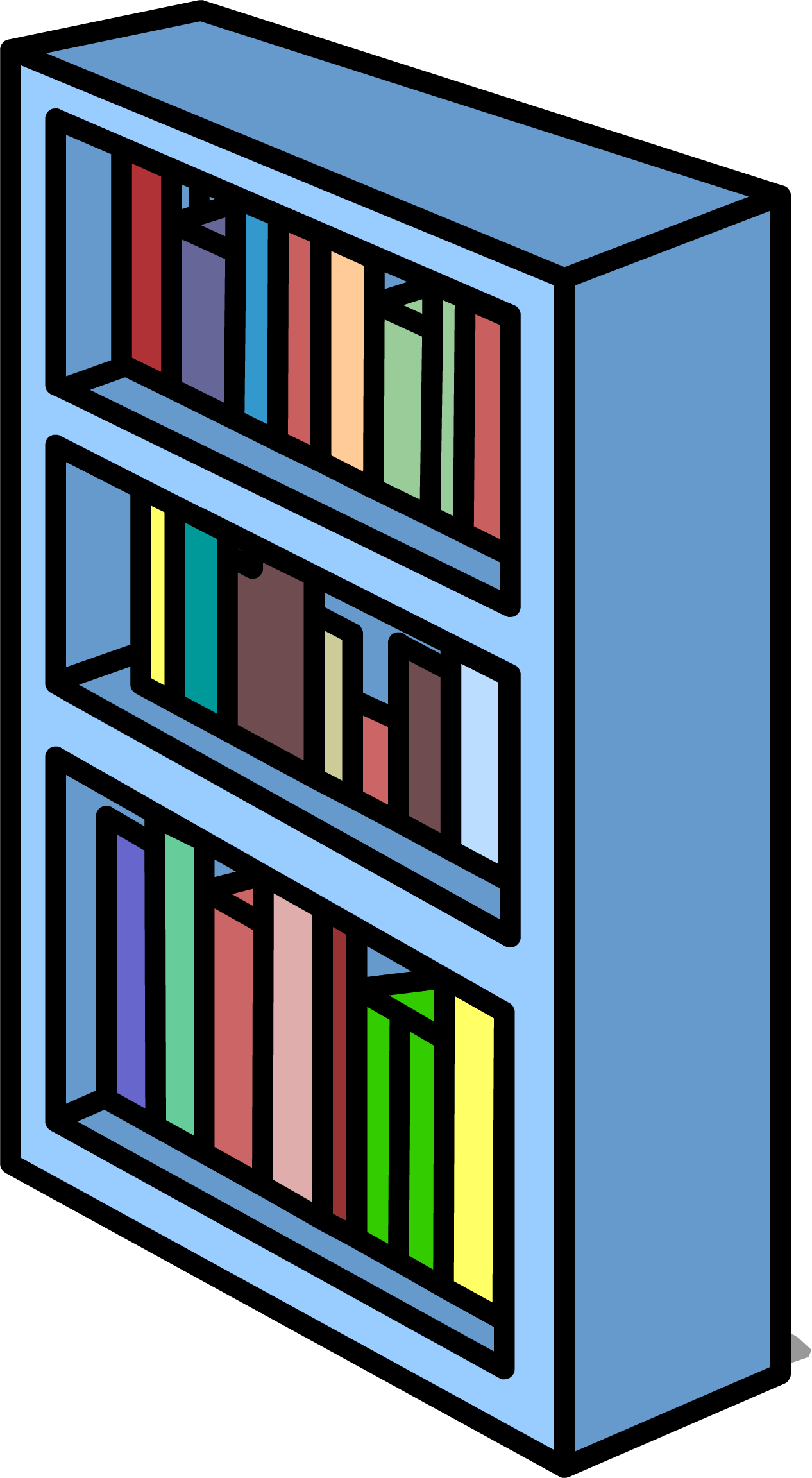 Clipart of a book shelf jpg black and white Image - Blue Bookshelf sprite 007.png | Club Penguin Wiki | FANDOM ... jpg black and white