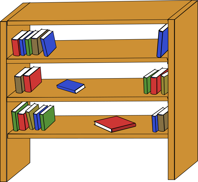 Book shelf clipart