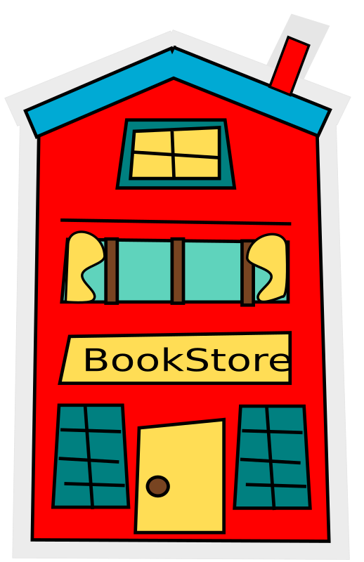 Book shop clipart png free library Clipart - cartoon bookstore-building png free library