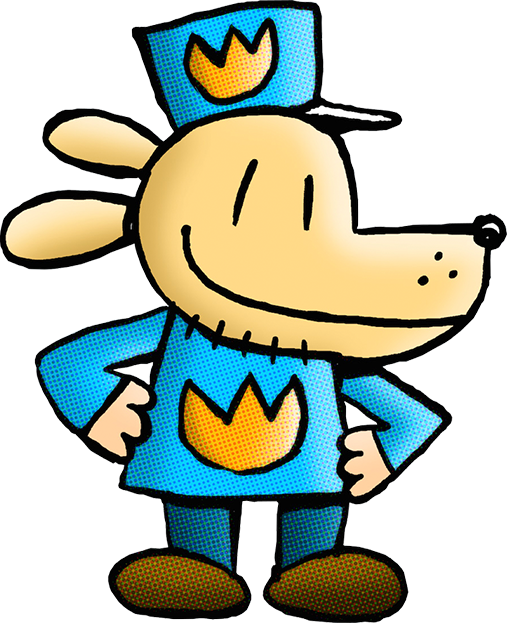 Book shoppers clipart picture freeuse Dog Man is back and he's got a bone to pick with the world's ... picture freeuse