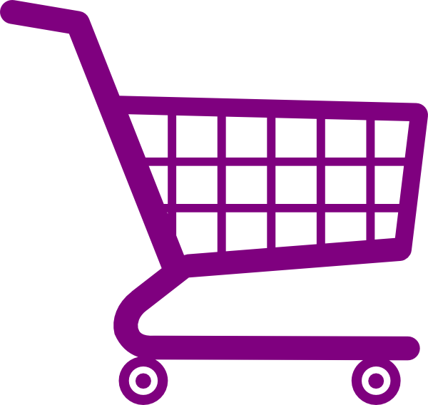 Book shopping clipart svg freeuse download Shopping Cart Purple Clip Art at Clker.com - vector clip art online ... svg freeuse download