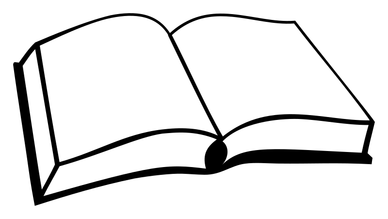 Book silhouette clipart clip art freeuse Open Book Silhouette Clip Art clip art freeuse
