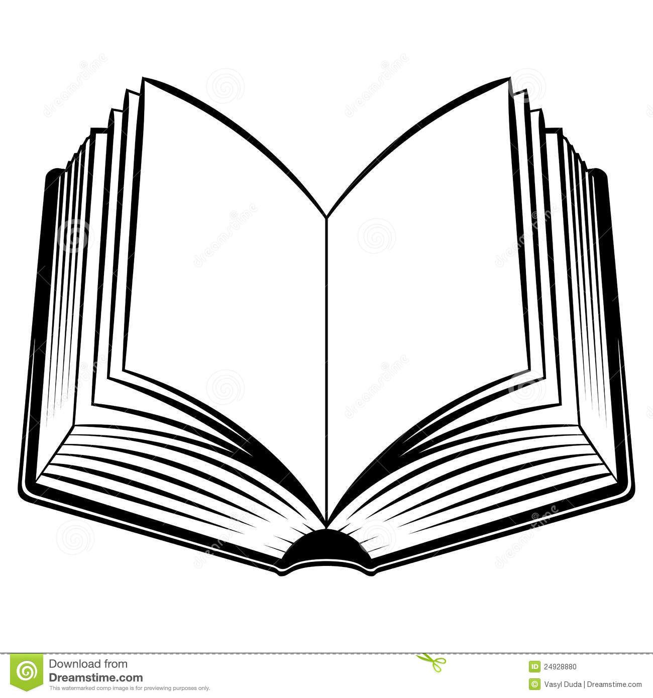 Book sketch clipart banner free library Image result for books outline | Pose reference | Open book, Open ... banner free library