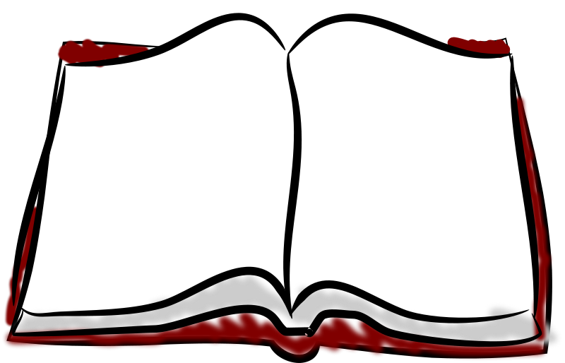 Book sketch clipart clip free library Free Clipart: Book, sketched | mi_brami clip free library
