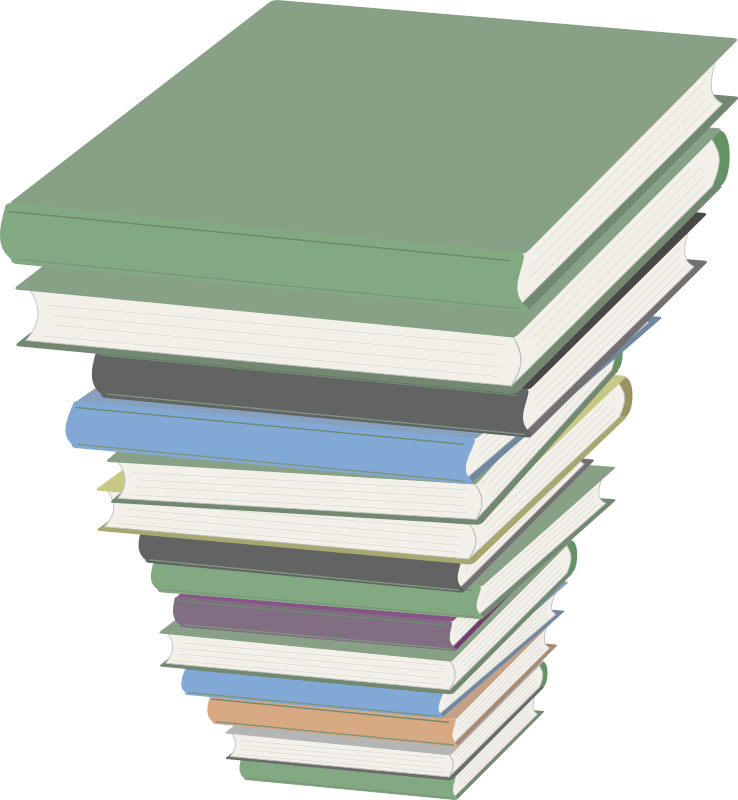 Book stack clipart vector black and white Clipart - Pile of Books vector black and white