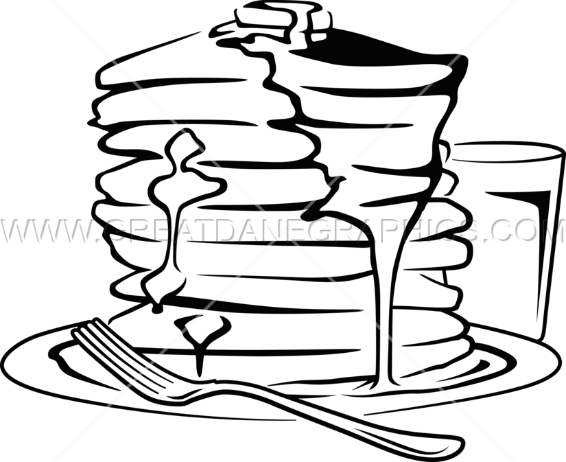 Book stack clipart black and white graphic black and white library Pancake Stack | Production Ready Artwork for T-Shirt Printing graphic black and white library