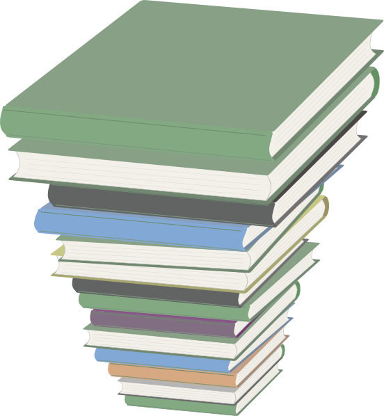 Book stacks clipart picture royalty free Book Stack Clip Art at Clker.com - vector clip art online, royalty ... picture royalty free