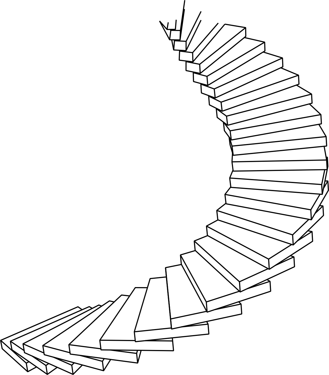 Spiral Staircase Drawing at GetDrawings.com | Free for personal use ... png royalty free library
