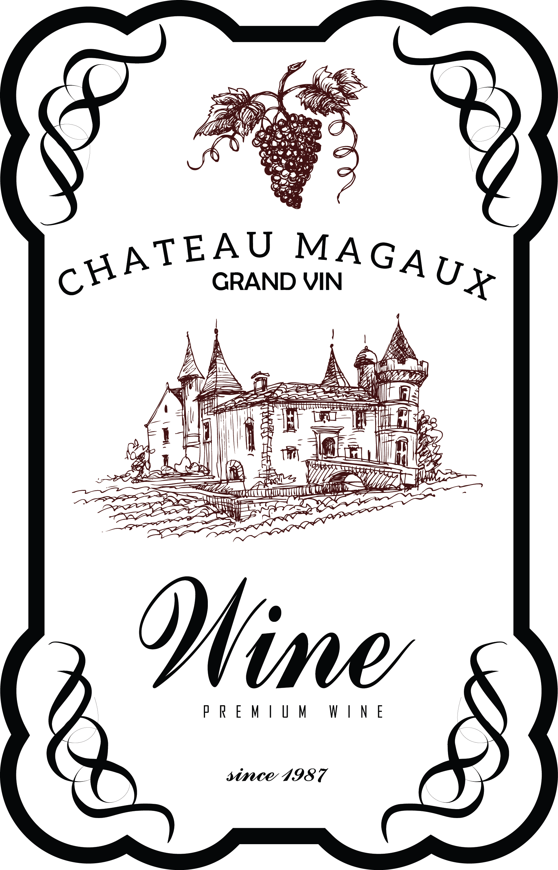 Book tasting clipart image black and white stock my design / wine label | Decoupage Todo | Pinterest | Wines ... image black and white stock