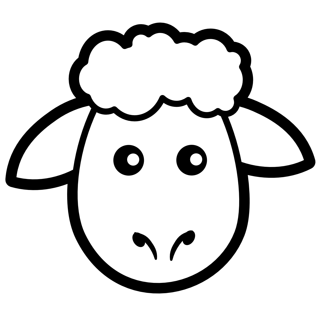 Book with face clipart graphic freeuse stock Lamb Face Clip Art | Clipart Panda - Free Clipart Images graphic freeuse stock