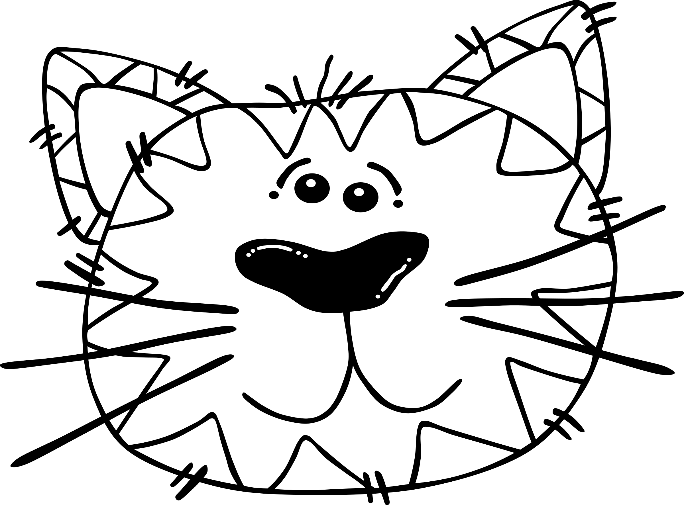 Book with face clipart image royalty free download Clipart - Cartoon Cat Face image royalty free download