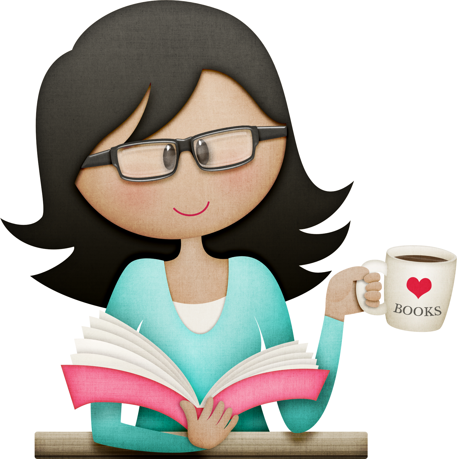 Coffee and book clipart png library stock Pin by Olivia Stein on stuff I like | Pinterest | Coffee humor, Clip ... png library stock