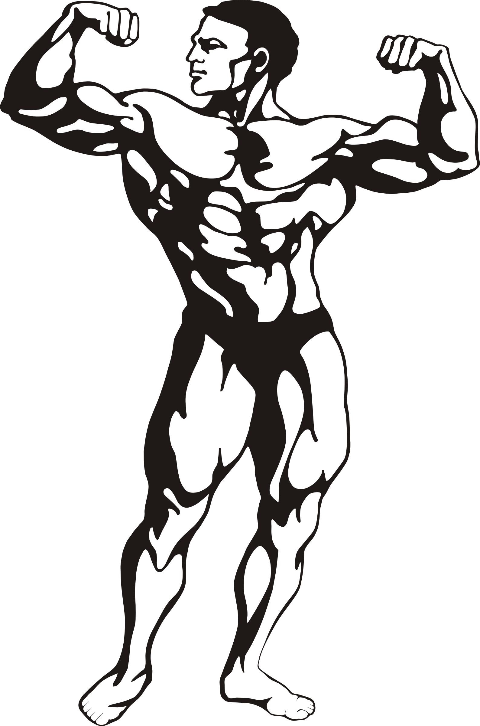 Book with muscles clipart image transparent Clipart - Fitness image transparent