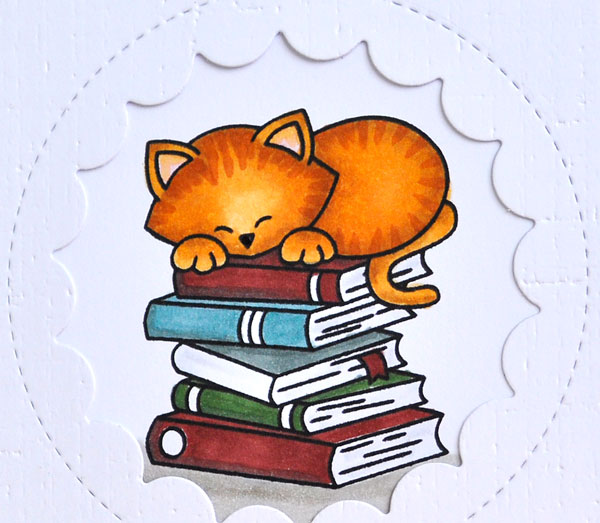 Book withdrawn stamp clipart svg freeuse library Inky Fingers: Newton\'s Nook Cat birthday card for a book lover svg freeuse library