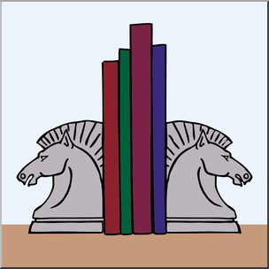 Bookend clipart png library Clip Art: Bookends Color I abcteach.com | abcteach png library