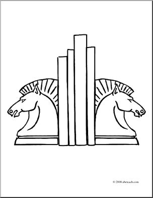 Bookend clipart jpg freeuse download Clip Art: Bookends (coloring page) I abcteach.com | abcteach jpg freeuse download