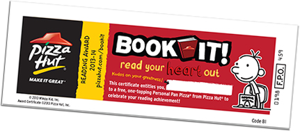 Bookit clipart jpg royalty free Free Pizza Hut Pizza With Book-it Program for Homeschoolers ... jpg royalty free
