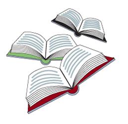 Books flying clipart