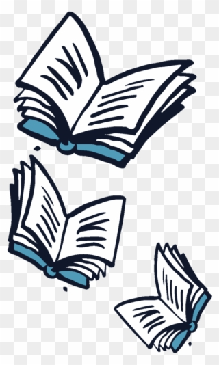 Books flying clipart png transparent stock Flying Books Off Center - Flying Book Png Clipart - Full Size ... png transparent stock
