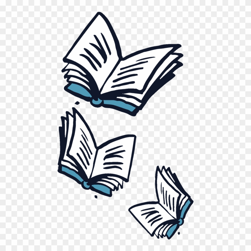 Books flying clipart banner royalty free Flying Books Off Center - Flying Book Png Clipart (#986094) - PinClipart banner royalty free