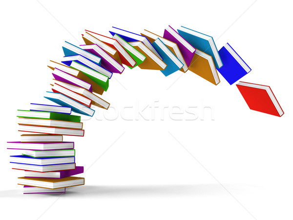Books graphics clip art transparent library Stack Of Falling Books Representing Learning And Education stock ... clip art transparent library