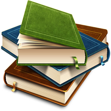 Books graphics picture free library Stack Of Books Icon (PSD) picture free library