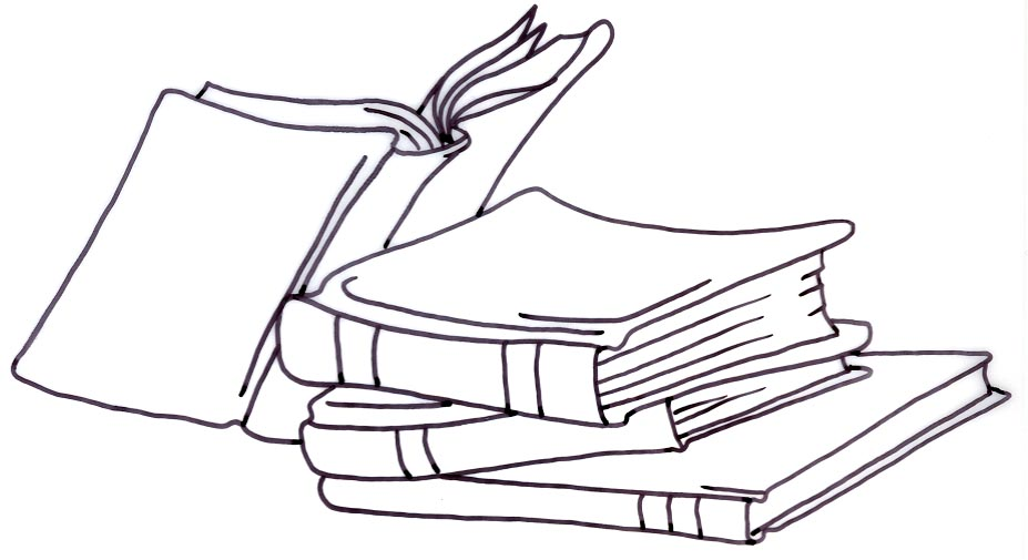 Books lined up clipart black and white png free library Books Clipart Black And White & Look At Clip Art Images - ClipartLook png free library