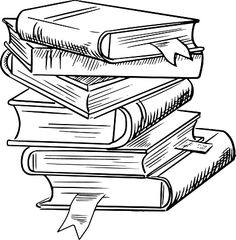 Books lined up clipart black and white jpg black and white stock Books clipart black and white 5 » Clipart Station jpg black and white stock