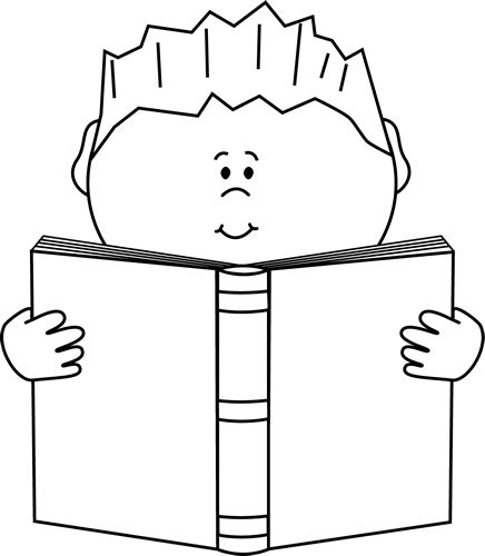 School clipart black and white children reading png freeuse Best School Book Clipart Black and White #28687 - Clipartion.com png freeuse