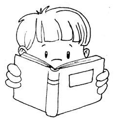 Books to read clipart black and white freeuse Read a book clipart black and white 2 » Clipart Portal freeuse