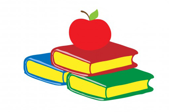 Books with apple clipart jpg transparent download Book with apple on top clipart - ClipartFest jpg transparent download