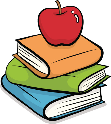 Books with apple clipart vector freeuse download Apple and book clipart - ClipartFest vector freeuse download
