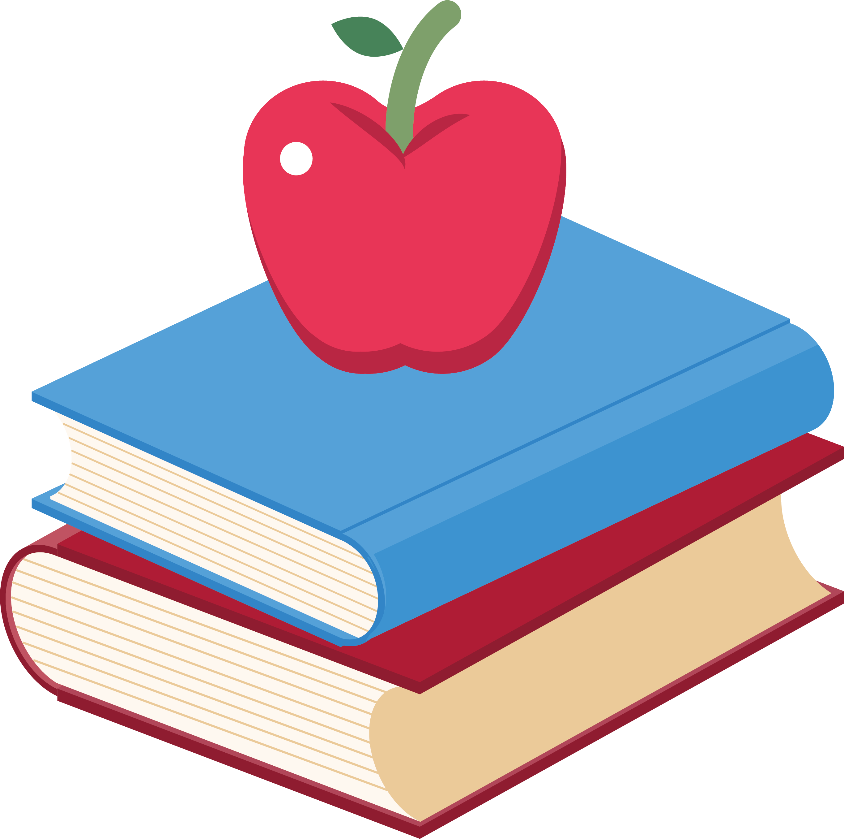 Heart apple clipart clipart library library Book Apple Clip art - Two books, an apple 2730*2711 transprent Png ... clipart library library