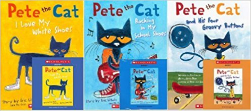 Books with cd image royalty free library Pete the Cat Book and CD Pack (Book and CD) : Pete the Cat and His ... image royalty free library