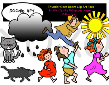Booming thunder clipart transparent download Thunder Goes Boom Clip Art Pack transparent download