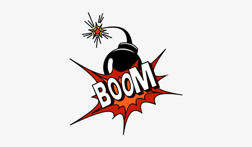 Booms clipart image black and white download Boom Clipart - Bomba Boom Png - Free Transparent PNG Download - PNGkey image black and white download