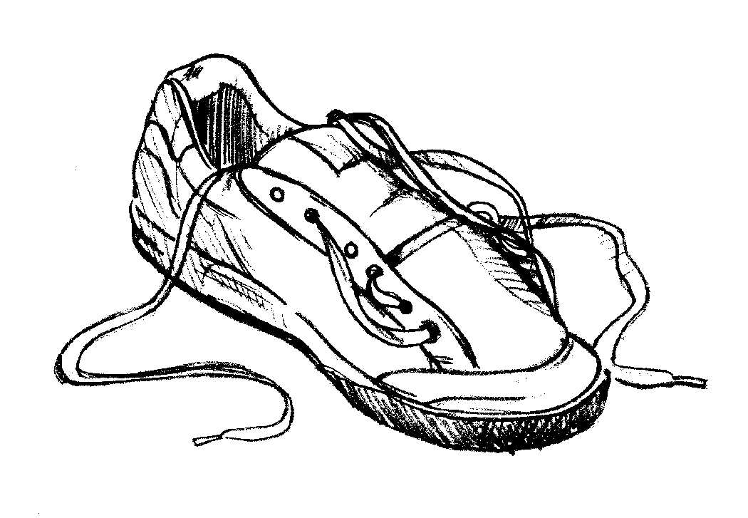 Boot laces clipart svg black and white library Free Outline Of A Shoe, Download Free Clip Art, Free Clip Art on ... svg black and white library