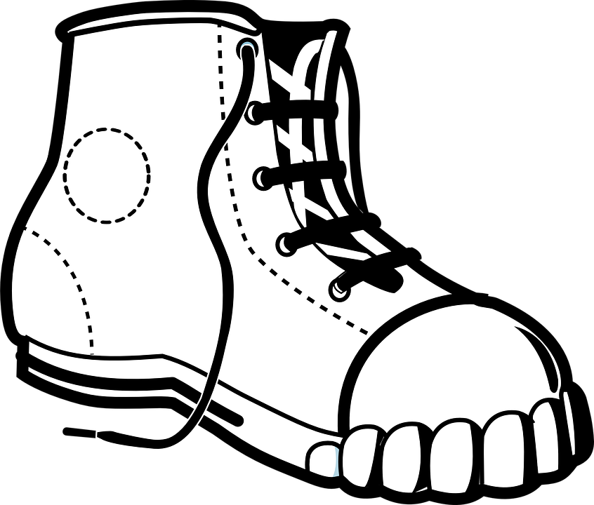 Boot laces clipart jpg library HD Sneaker Chuck Shoe Converse Fashion Laces - Shoe Black And White ... jpg library