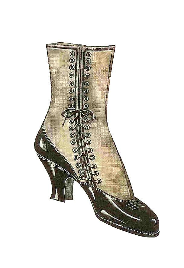 Boot laces clipart jpg freeuse library Antique Images: Free Shoe Clip Art: Vintage 1915 Women\'s Lace Up ... jpg freeuse library