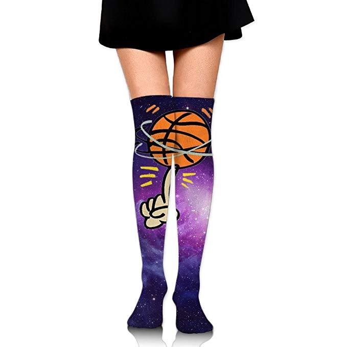 Boot socks clipart image stock Amazon.com: Fashion Clipart Basketball Women\'s Thigh High Stockings ... image stock