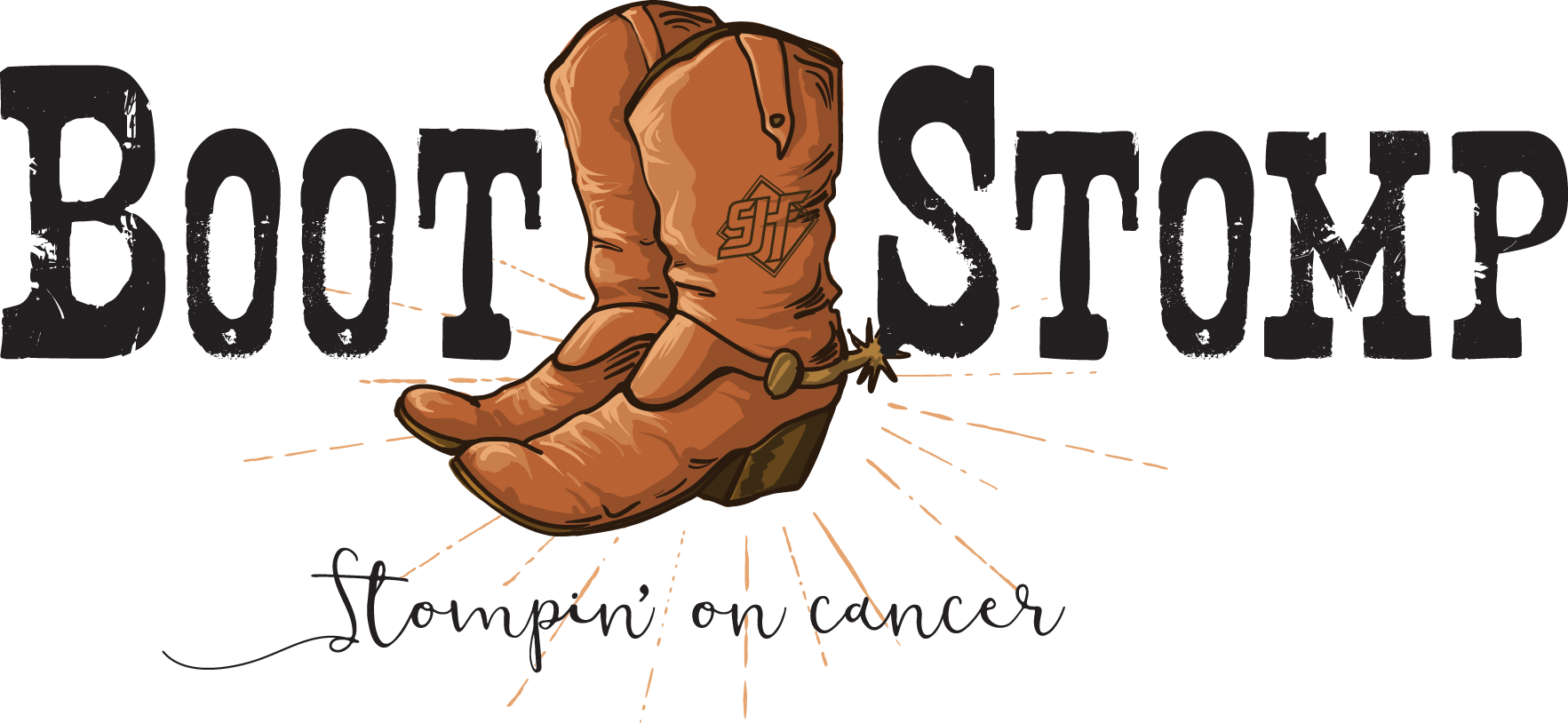 Boot stomping clipart image free Boot Stomp Montrose | Stompin\' on cancer image free
