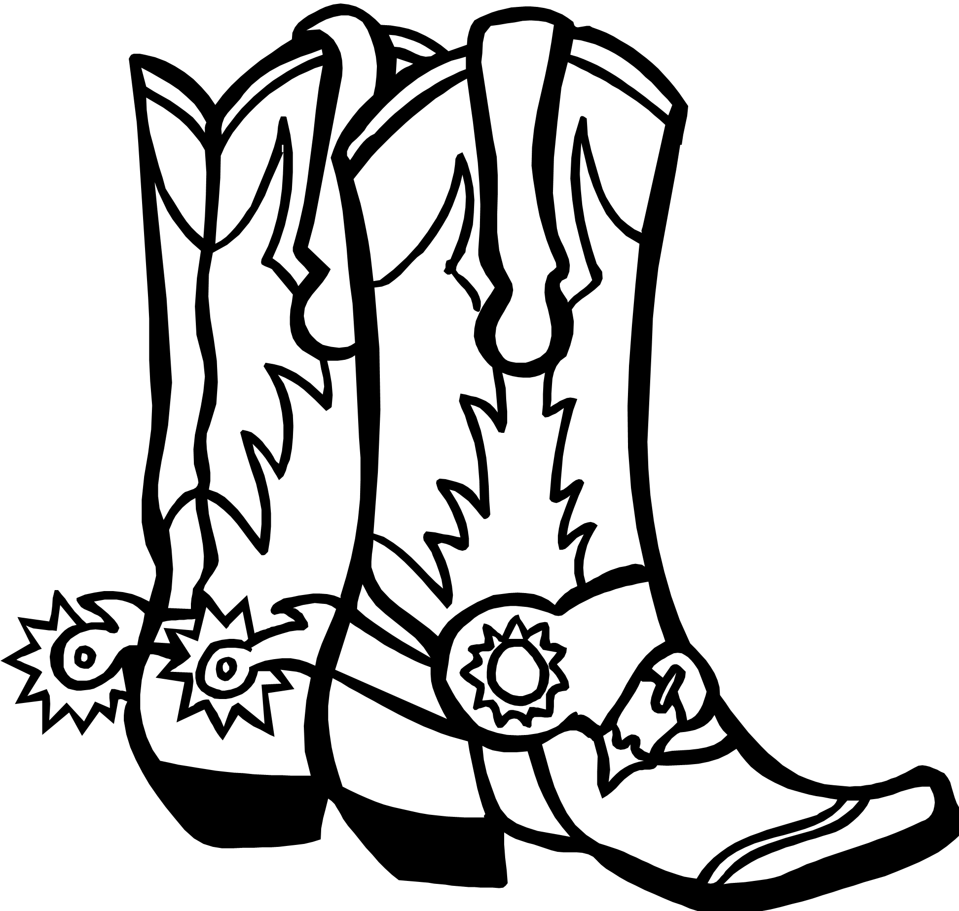 Cowboy at cross clipart clip royalty free Drawings Of Cowboy Boots - Cliparts.co | Birthday cards | Pinterest ... clip royalty free