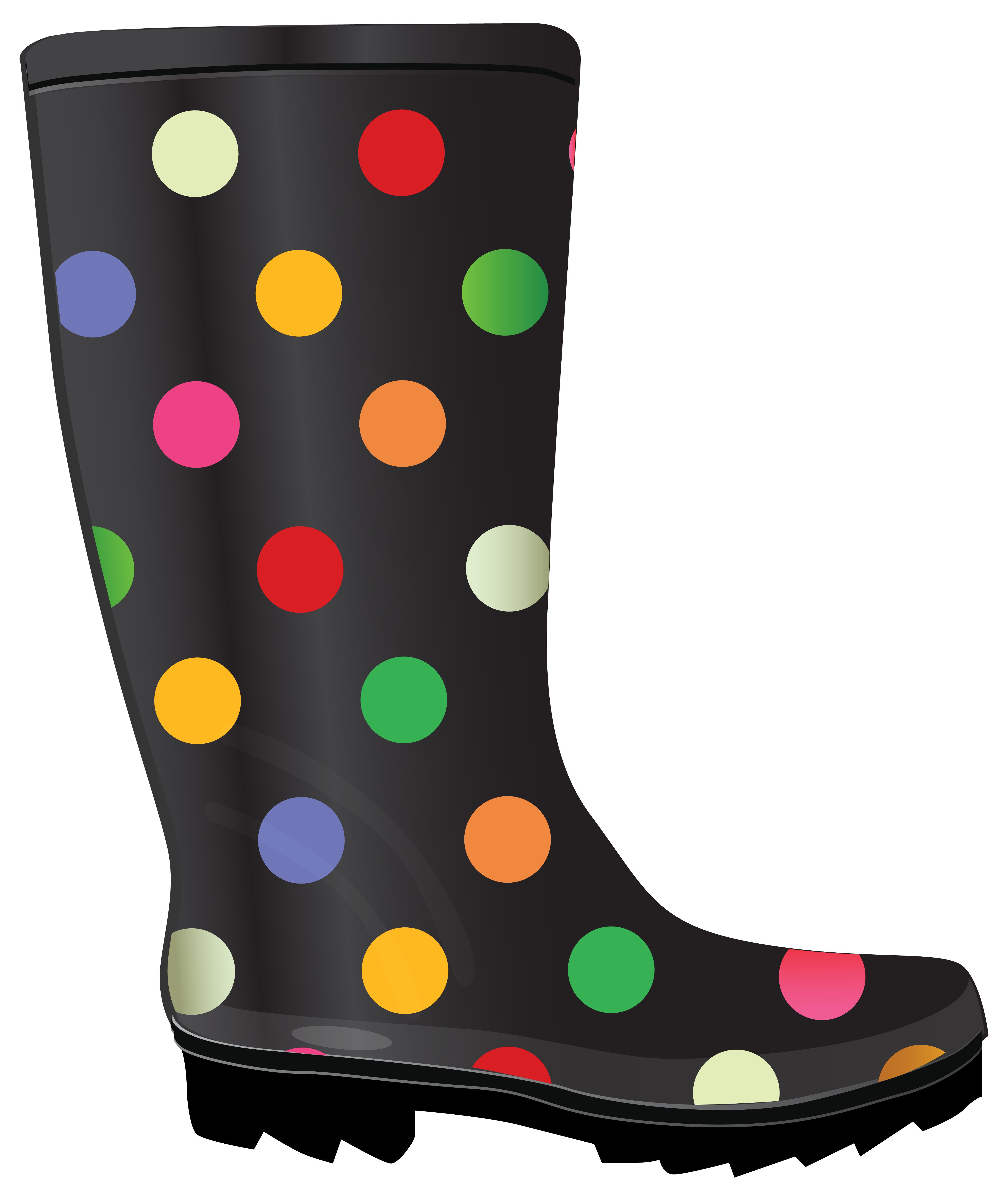 Boot with snowflake clipart png black and white Dotted Rubber Boots. | Rain Boots and Rubber Products | Pinterest ... png black and white