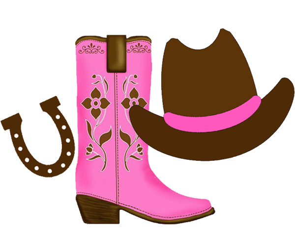 Pink western cross clipart clip art freeuse cowgirl clipart | Cowgirl clipart with space on the right for each ... clip art freeuse