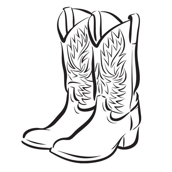Boots and antlers clipart clipart freeuse stock Cowboy Boot Clip Art Free | 32 images of cowboy boots free cliparts ... clipart freeuse stock