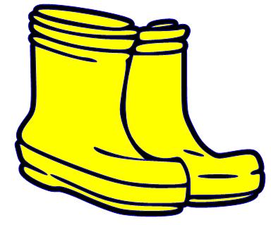Yellow rain boot clipart