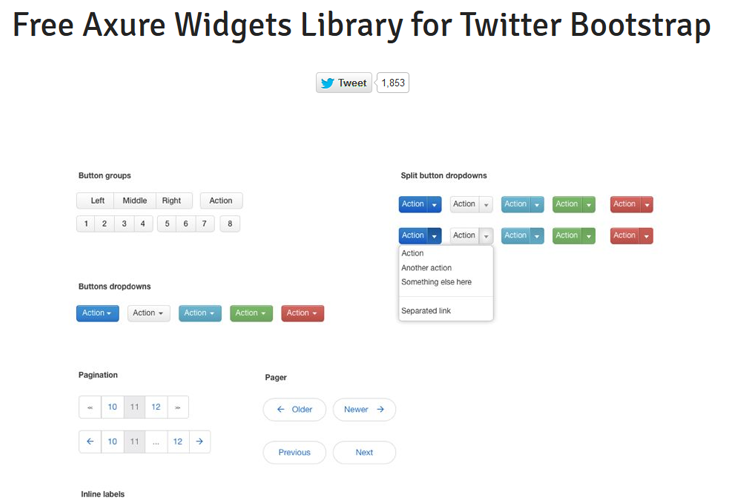 Bootstrap button with clipart. Clipartfest twitter widgets