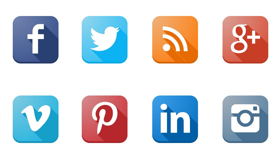 Icons social media. Bootstrap facebook clipart