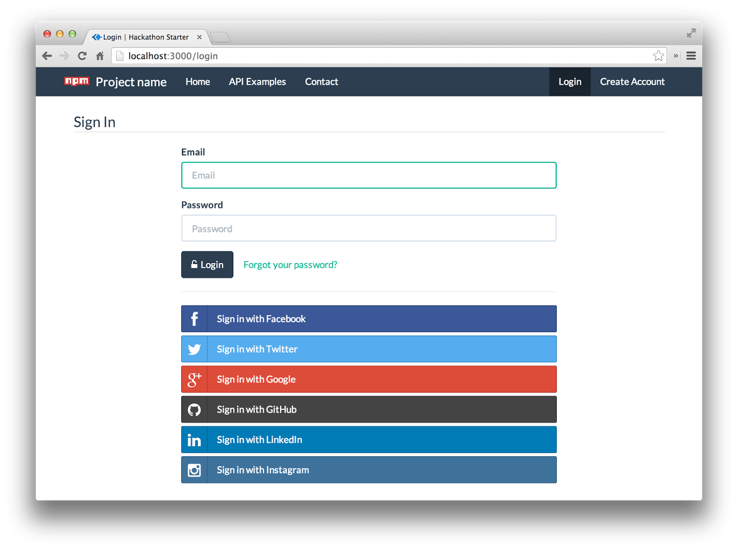Bootstrap facebook clipart. Github sahat hackathon starter
