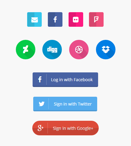 The biggest social icons. Bootstrap facebook clipart